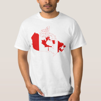 Canada Flag map CA T-Shirt