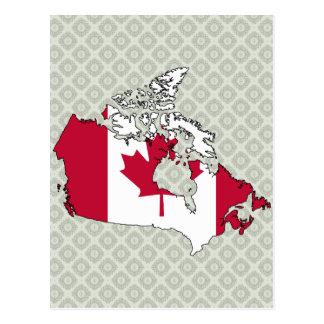 Canada Flag Map full size Postcard