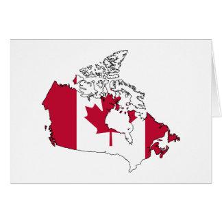 Canada flag map greeting card