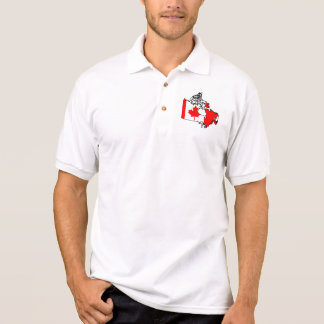 canada flag map polo shirt