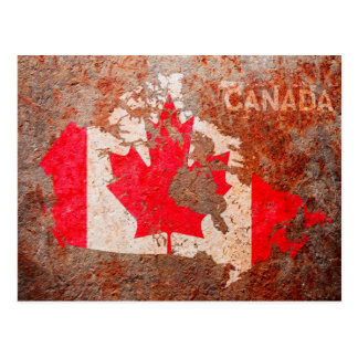 Canada Flag map Postcard