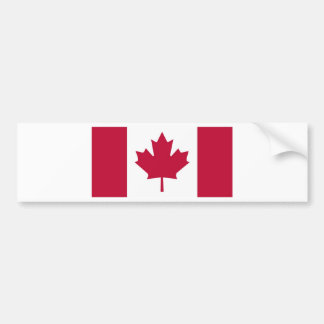 Canada Flag Maple Leaf design Bumper Sticker