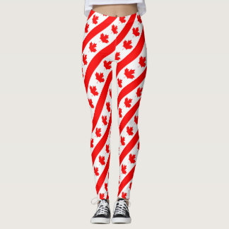 Canada Flag Maple Leaf Leggings