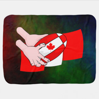 Canada Flag Maple leaf Rugby Ball Swaddle Blankets