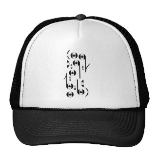 Canada Flag Music Notes Mesh Hat