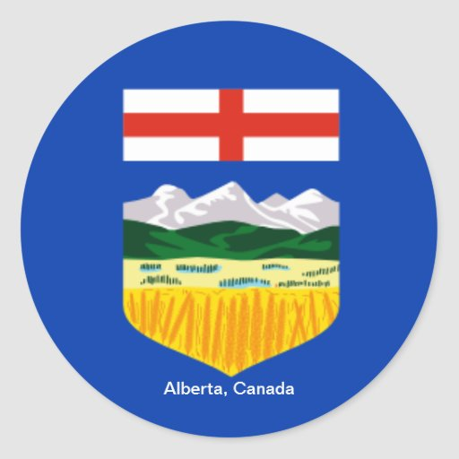 Canada: Flag of Alberta, Canada sticker