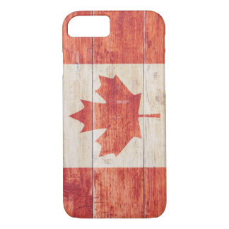 Canada Flag on Wood iPhone 8/7 Case