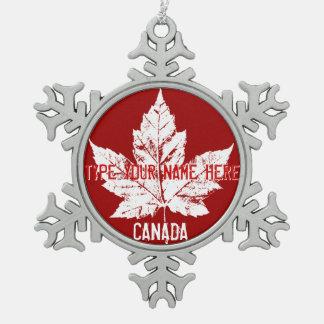 Canada Flag Ornament Personalized Canada Souvenir