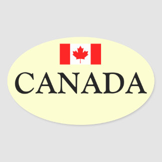 Canada* Flag Oval Sticker