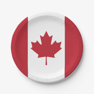 Canada Goose' Photo Paper Plate