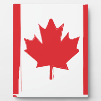 Canada flag plaque