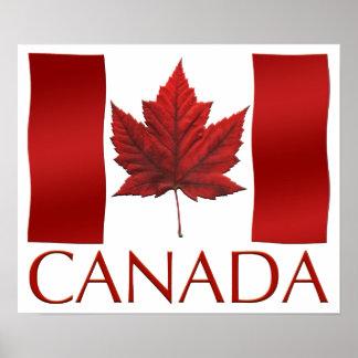 Canada Flag Poster Canada Flag Souvenir Art Print