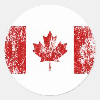 Canada Flag Pride Round Stickers