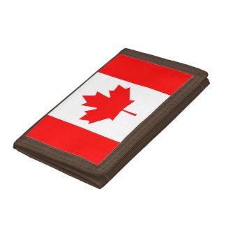Canada flag quality tri-fold wallets