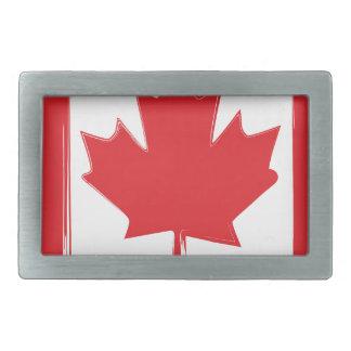 Canada flag rectangular belt buckle