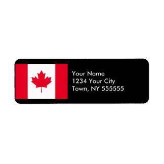Canada Flag Return Address Label