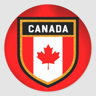 Canada Flag Round Sticker