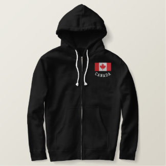 Canada Flag Sherpa Lined Sweater