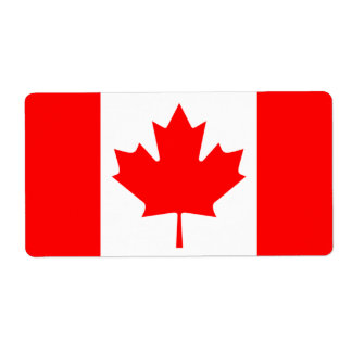 canada flag shipping label