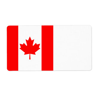 Canada Flag Shipping Label