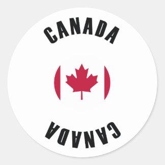 Canada Flag Simple Classic Round Sticker
