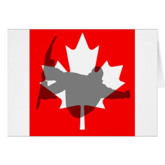 Canada flag snowboarding card