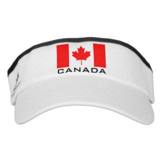 Canada flag sports sun visor cap hat