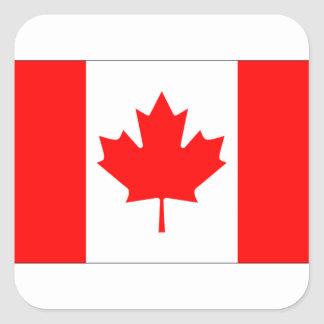 CANADA FLAG SQUARE STICKER