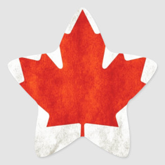 Canada Flag Star Sticker