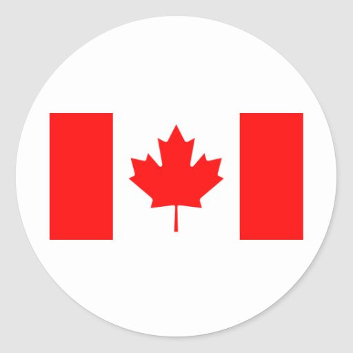Canada Flag Round Stickers
