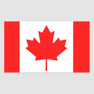Canada Flag Rectangle Stickers