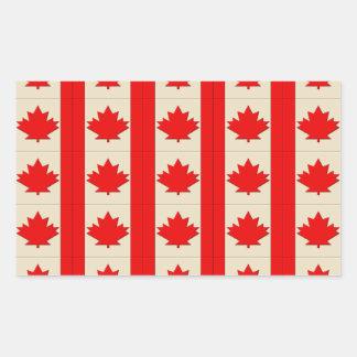 Canada Flag Rectangle Sticker