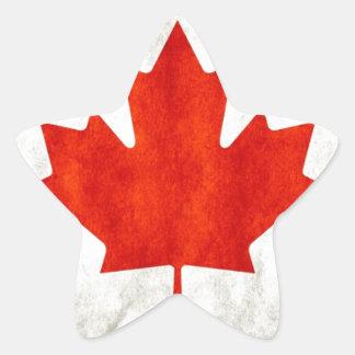 Canada Flag Star Sticker