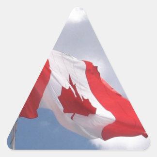 Canada Flag Triangle Sticker
