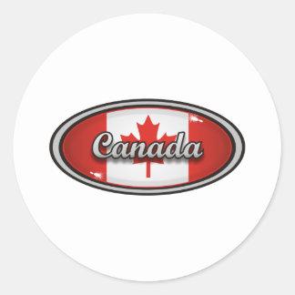Canada flag round sticker