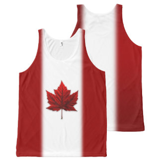 Canada Flag Tank Top Shirt Canada Souvenir Shirts