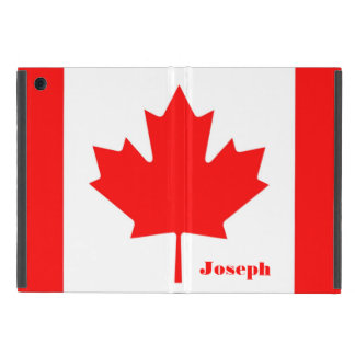 Canada Flag The Canadian Flag Monogram with Name Cases For iPad Mini