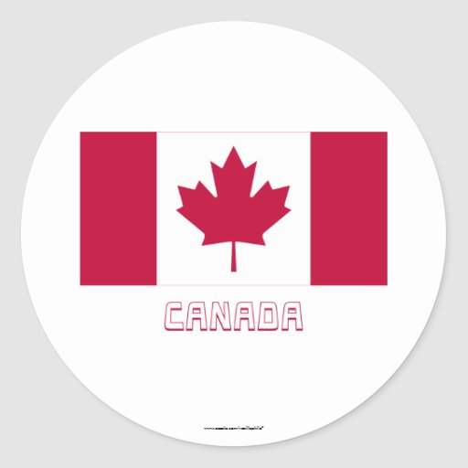 Canada Flag with Name Sticker