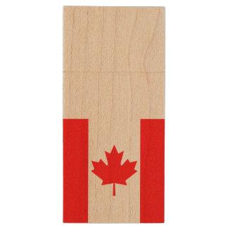 Canada Flag Wood USB Flash Drive