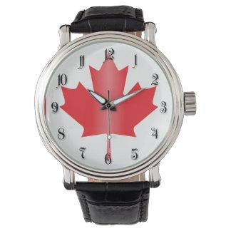 Canada flag wrist watch