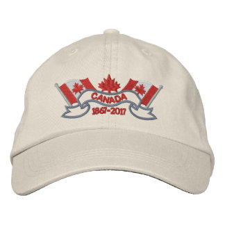 Canada Flags 150 Anniversary Embroidered Hat