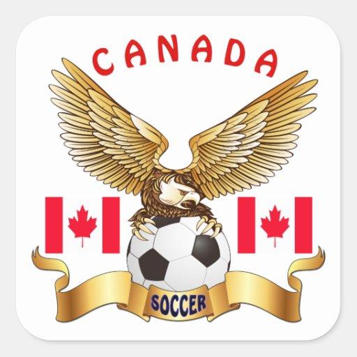 Canada Football Designs Square Stickers