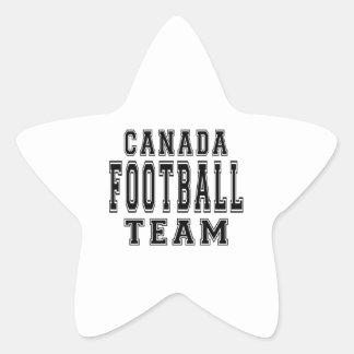 Canada Football Team Star Sticker