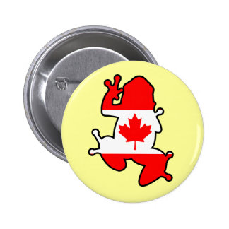 Canada Frog 2 Inch Round Button