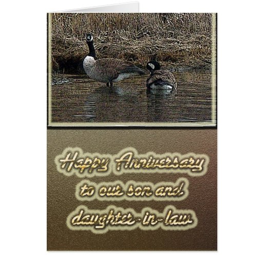 Canada Geese Anniversary Son Daughter-in-Law Card