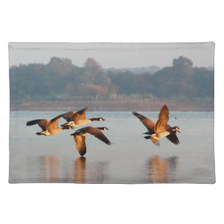 Canada Geese in Flight Place Mat