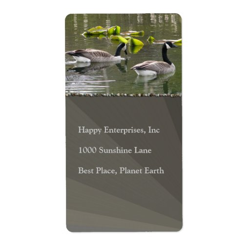 Canada Geese Labels
