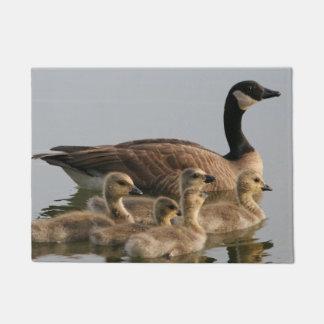 Canada Geese - Mother Goose and Baby Goslings Doormat