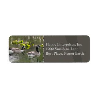 Canada Geese Return Address Label