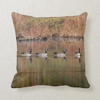 Canada Geese Throw Pillow